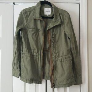Madewell fleet cargo utility jacket olive large